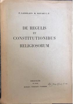 De regulis et constitutionibus religiosorum,
