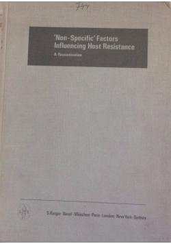 Non-Specific Factors Influencing Host Resistance