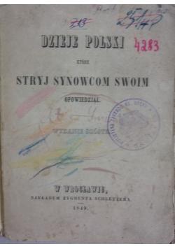 Dzieje Polski które stryj  synowcom swoim opowiedział, 1849r