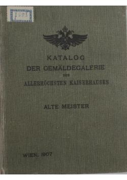 Katalog der Gemaldegalerie, 1907 r.