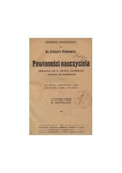 Powinności nauczyciela , 1919 r.