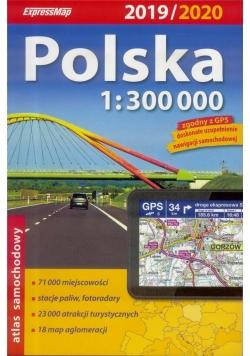 Atlas samochodowy 1:300 000 Polska 2019/2020