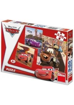 Puzzle 3x55 Auta w akcji DINO