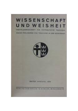 Wissenschaft und Weisheit, 1935r.