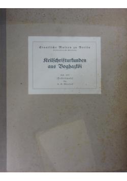 Keilschrifturkunden aus Boghazkoi, Heft XXIV, 1930 r.