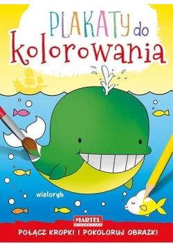 Plakaty do kolorowania - Wieloryb
