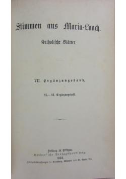 Stimmen aus Maria-Laach, 1884r.