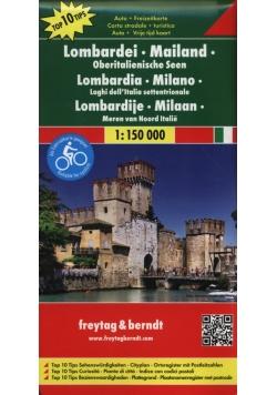 Lombardia Mediolan mapa samochodowo - turystyczna 1:150 000