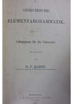 Griechische elementargrammatik. 1885r.