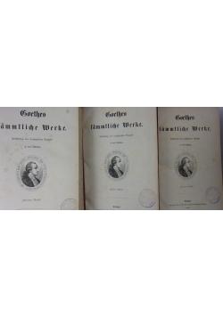 Boethes sammtliche Merke,Tom I,II,III,1869r.