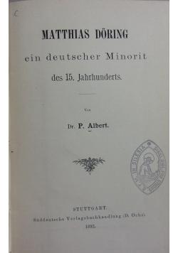 Matthias doring ein deutscher Minorit, 1892 r.