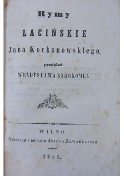 Rymy Łacińskie,1851r./Odprawa Posłów Greckich,1945r.