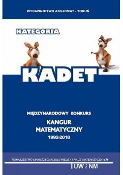 Matematyka z wesołym Kangurem Poziom KADET w. 2018
