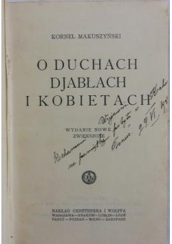 O duchach, djabłach, i kobietach , 1927r