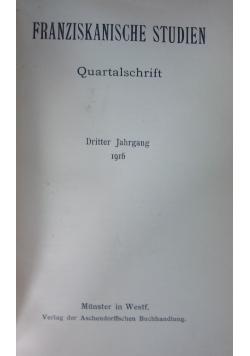 Franziskanische studien Quartalschrift, 1916 r.