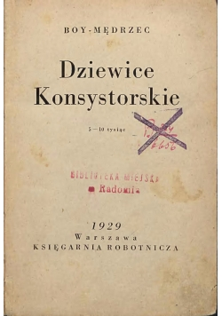 Dziewice konsystorskie-1929r.
