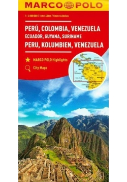 Mapa Marco Polo - Peru, Kolumbia, Wenezuela w.2017