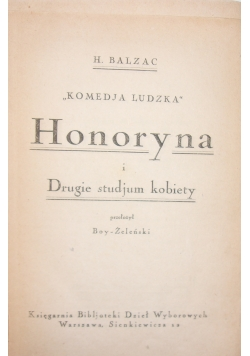 Honoryna i Drugie studjum kobiety, 1925 r.