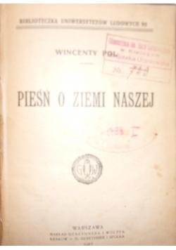 Pieśń o ziemi naszej, 1903 r.