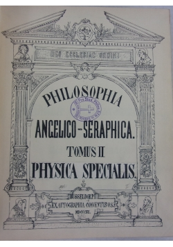 Philosophia angelico - seraphica, 1920 r.