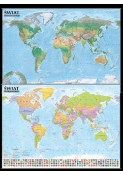 Świat.Mapa polity. i krajobra. 1:21 500 000 listwa