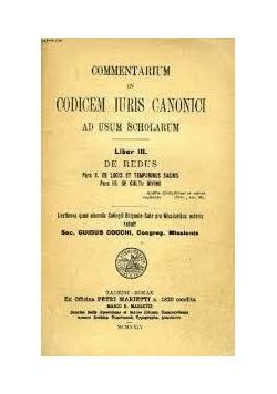 Commentarium in codicem iuris canonici III, 1820 r.