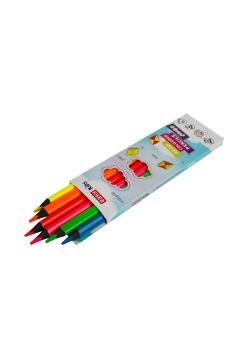 Kredki trójkątne neon. Jumbo 6 kolorów EASY