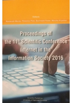 Processing of the 11th scientific conference internet in the information society 2016