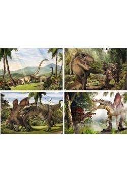 Era dinozaurów. Puzzle 4 w 1. ALEX