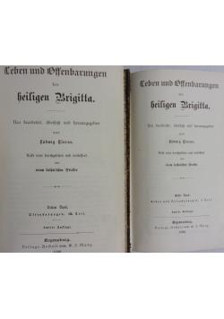 Leben und Offenbarungen der Heiligen Brigitta, tomy I-II, 1888r.