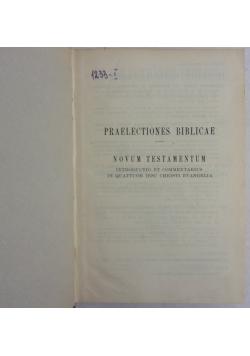 Praelectiones bibliacae- Novum Testamentum, 1947 r.