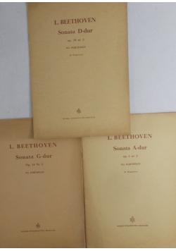 Sonata A- dur/  Sonata D-dur / Sonata G- dur- L. Beethoven