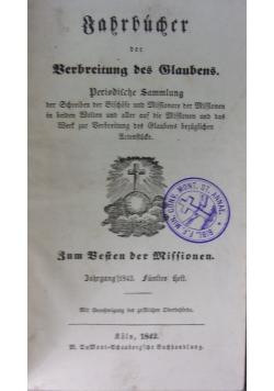 Jahrbucher der verbreitung des glaubens, 1842 r.
