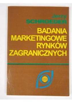 Badania marketingowe rynków zagranicznych
