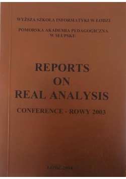 Reports on real analysis