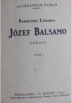 Pamiętniki lekarza Józef Balsamo, Tom I ,1925r