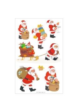 Naklejki Zabawny Mikołaj