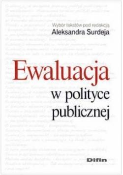 Ewaluacja w polityce publicznej