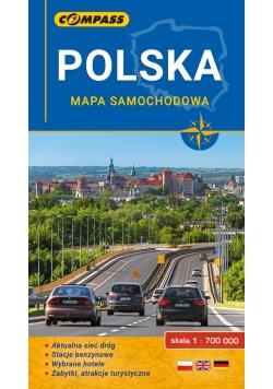 Polska mapa samochodowa 1: 700 000