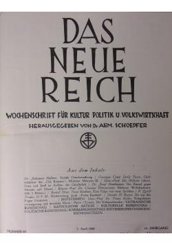 Das Neue Reich, 1928r.