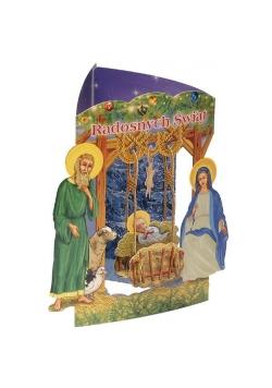 Karnet składany 3D - Radosnych Świąt (wz 6355)