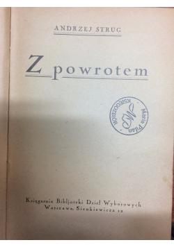 Z powrotem, 1925r.