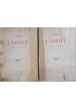 L'Idiot tom I i II