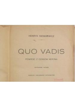 Quo Vadis, 1902r.