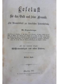 Leselust fur das Volk und Seine Freunde , 1868r.