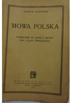 Mowa Polska podręcznik do nauki, 1933r
