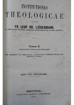 Institutiones Theologicae - Tom II , 1861 r.