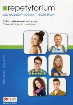 Repetytorium Podręcznik do języka angielskiego z płytą CD Poziom podstawowy i rozszerzony