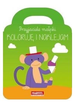 Przyjaciele małpki - koloruję i naklejam