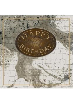 Karnet kwadrat z kopertą Urodziny Marble Leather